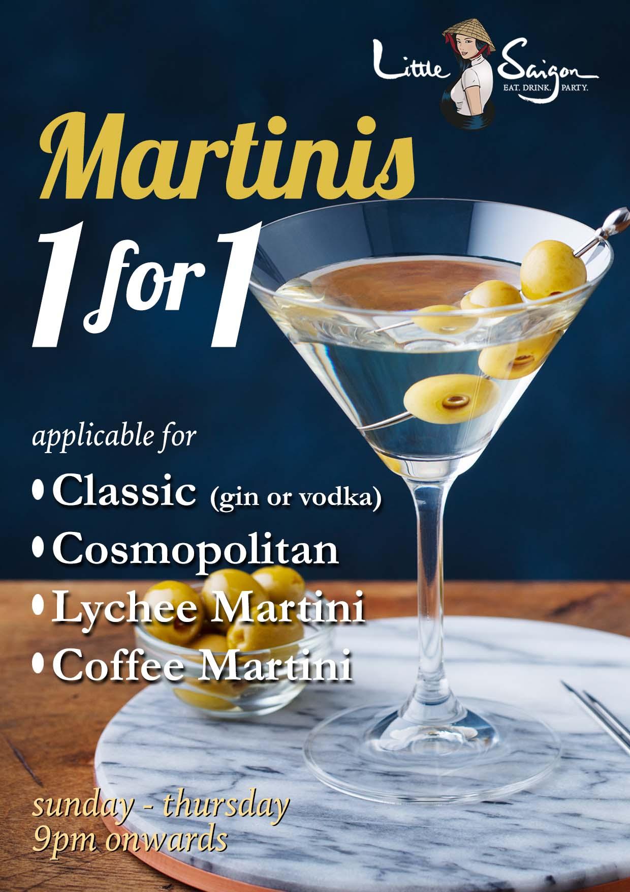Martini 1 for 1